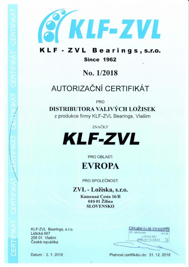Autorizovaný distribútor ložísk KLF