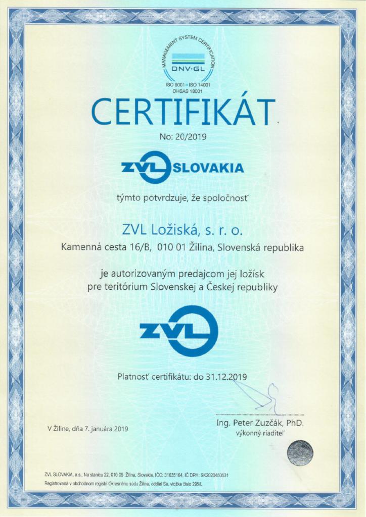 Autorizovaný distribútor ložísk ZVL Slovakia